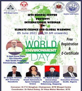 "05.06.2021. KONFERENCIJA ""CLIMATE CHANGE AND GLOBAL WARNING"""
